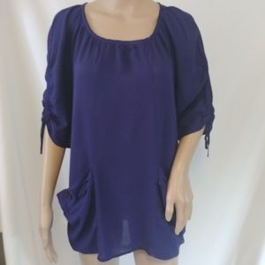 Anthropologie Odille Top Size XS Purple